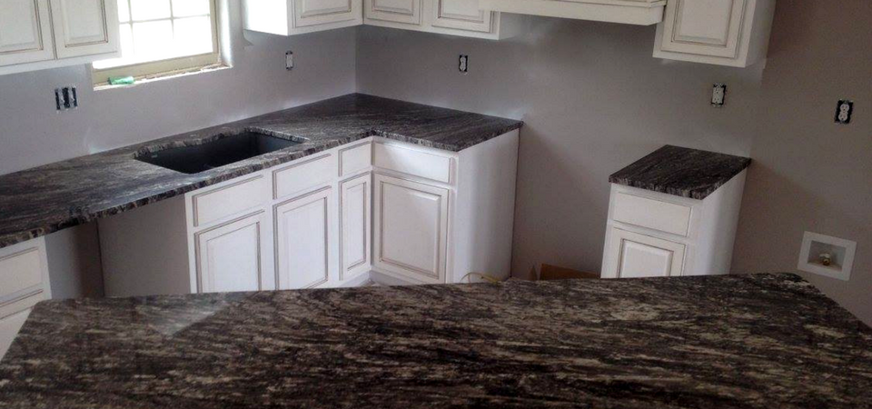 multi-colored natural stone counters